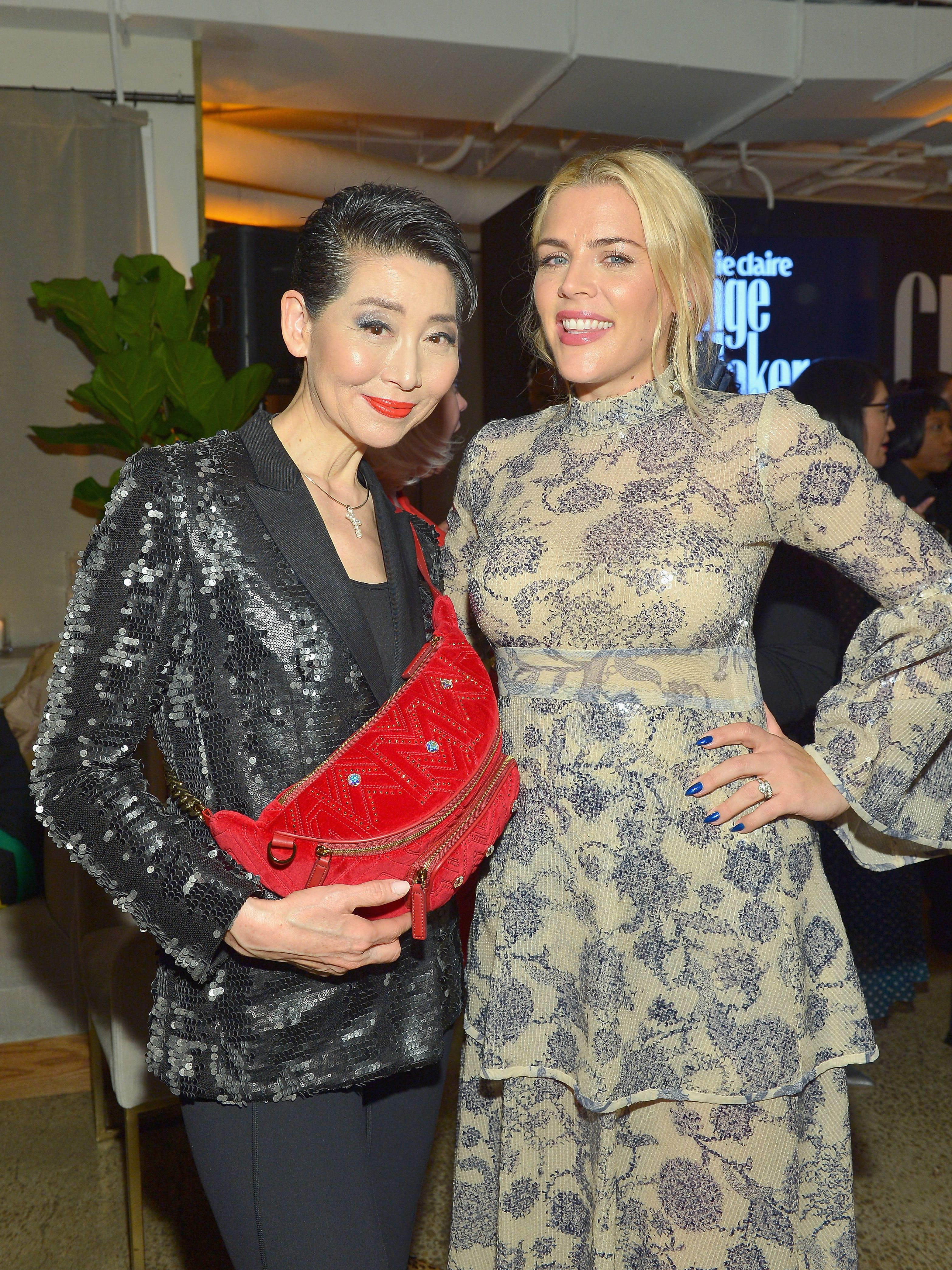 """I think it's an ongoing conversation and I think that we all are aware and we can see the dramatic impact that diversity has when it is represented in our art,"" Busy Philipps, posing with MCM chief visionary Kim Sung-joo, told MarieClaire.com at the event. ""Culturally, we look to the art to reflect our society back to us and figure things out and answer the big questions. So obviously it makes sense that that should be a true reflection of the world we're living in. So that's why I think change makers are so important."""