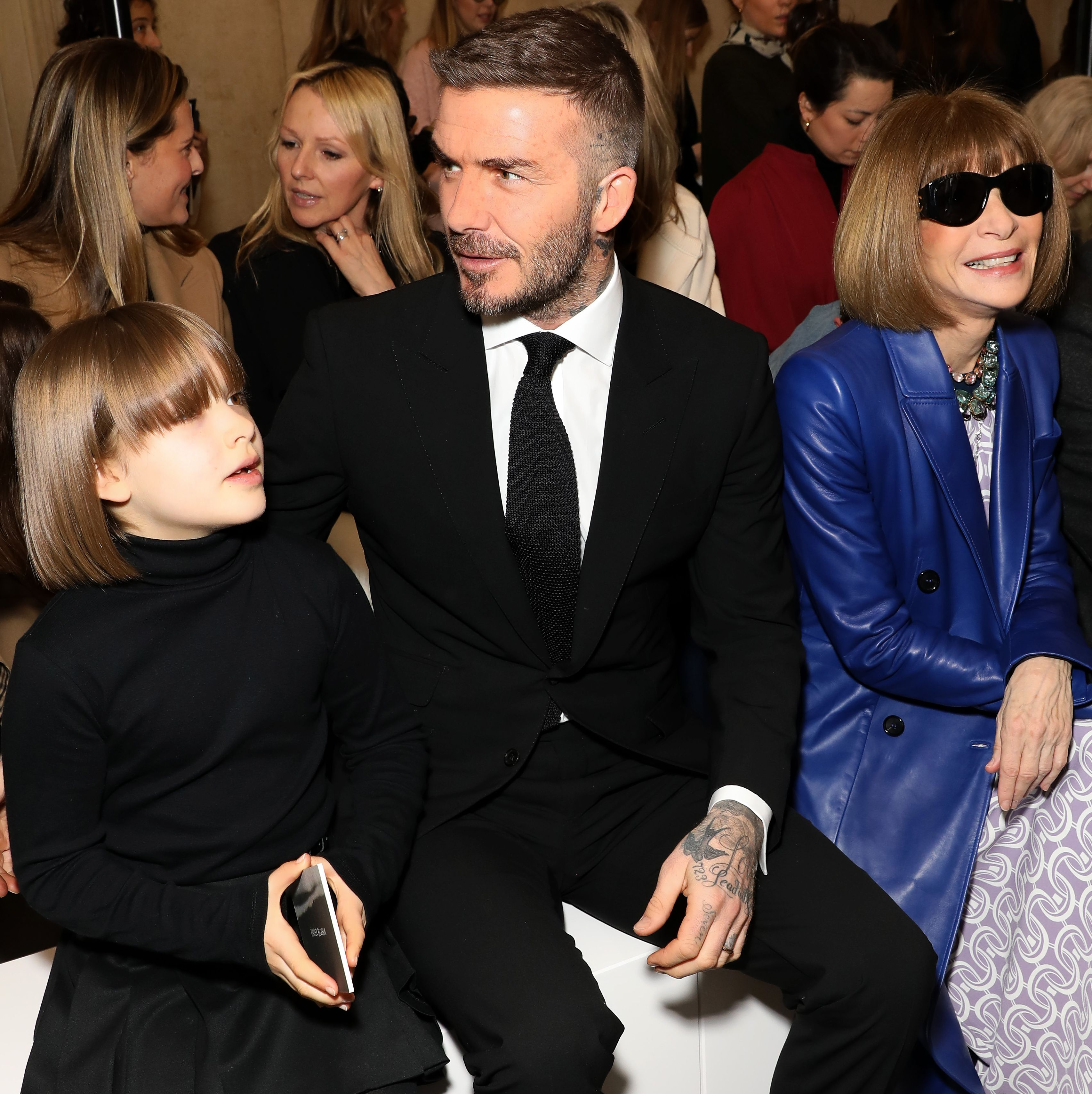 Victoria Beckham's Daughter Harper Looks Just Like This Style Icon at Fashion Week