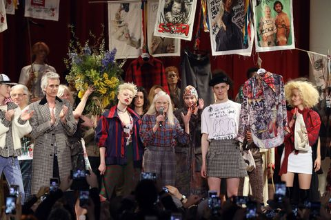 'We Need More Heroes': Actress Rose McGowan Walks Vivienne Westwood's Politically-Charged LFW Show