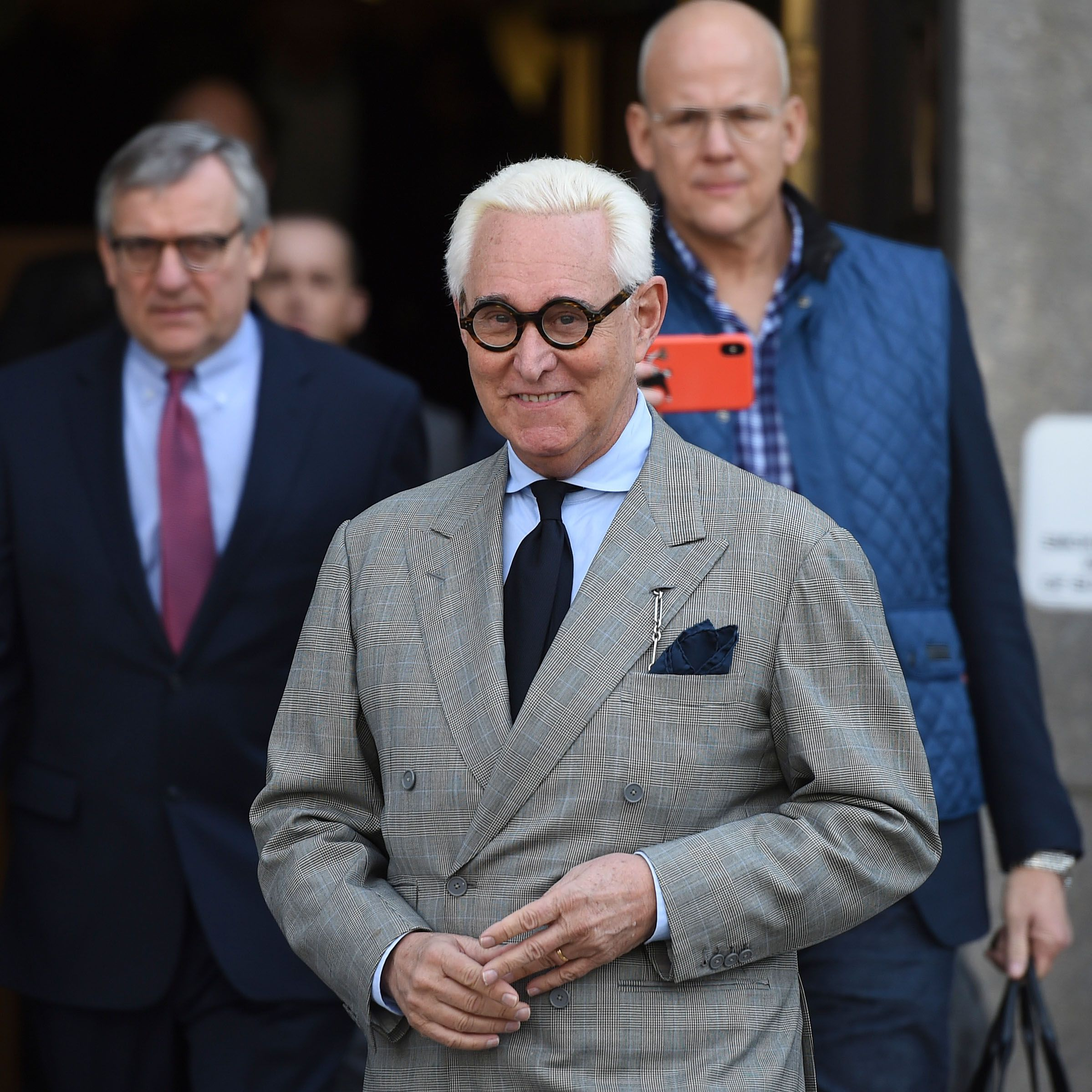 Former advisor to US President Donald Trump, Roger Stone, leaves a court hearing on March 14, 2019, in Washington DC.
