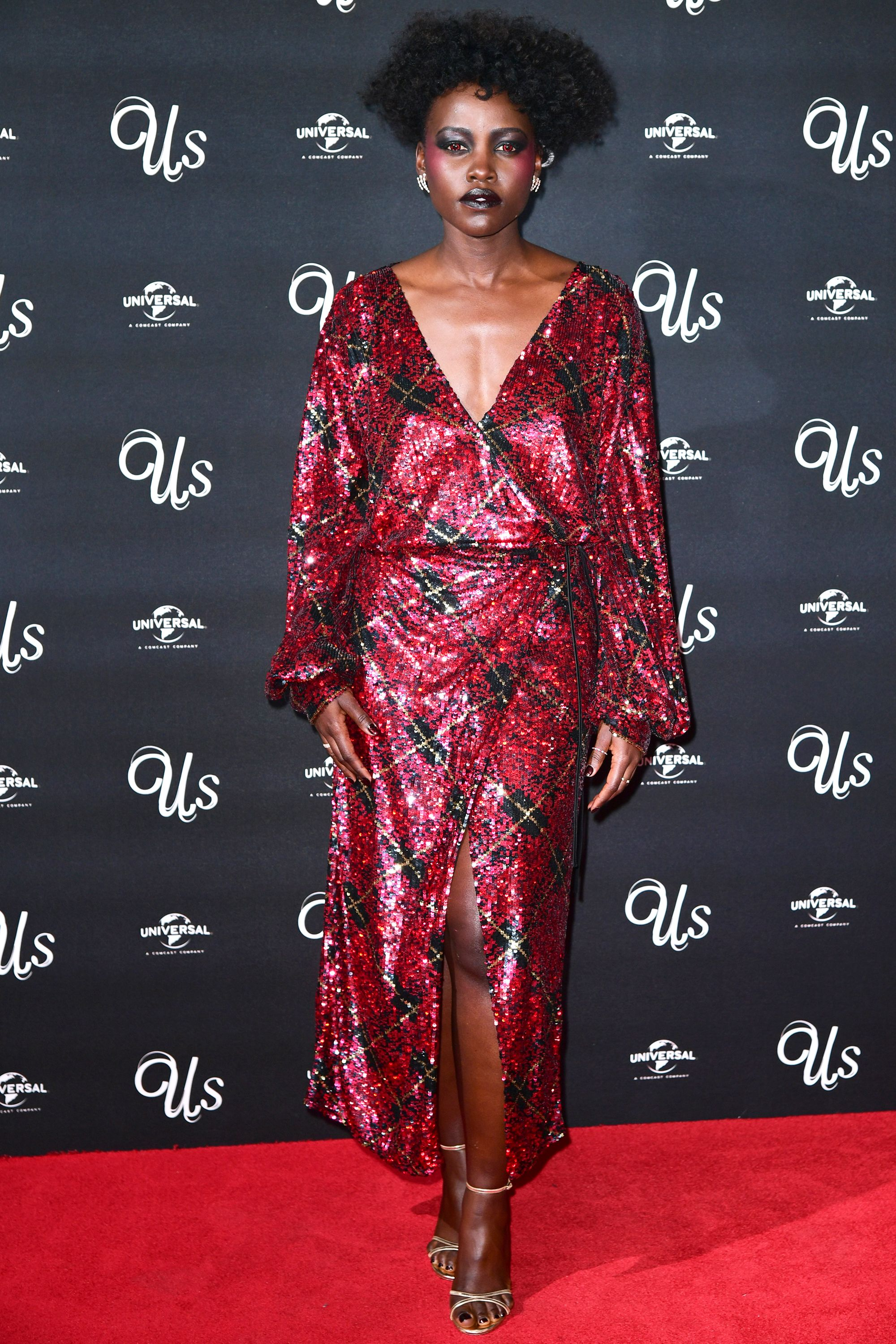 Who: Lupita Nyong'o When: March 14, 2019 Wearing: Attico Why: Just when we thought we couldn't get more hyped for the movie Us, Lupita Nyong'o traumatized us at the London premiere. Her horrifying look is queen of the damn, you're perfect, winning her best dressed of the week.