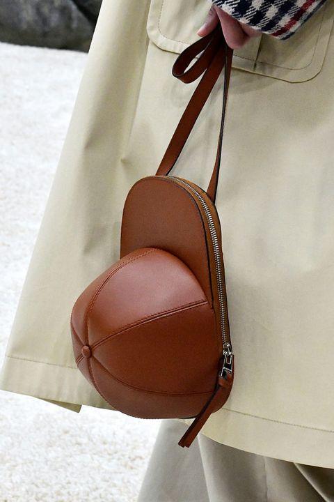 Brown, Tan, Leather, Bag, Beige, Fashion accessory, Ball, Hobo bag, Handbag,