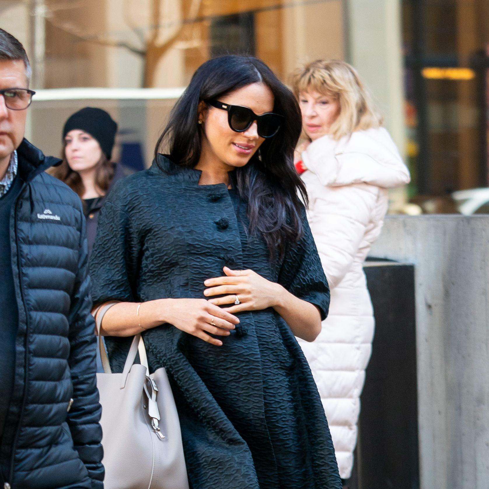 Why are there so many photos of Meghan in New York when it's a private trip?