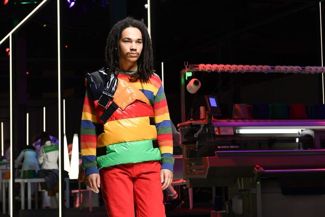 milan, italy   february 19 luka sabbat walks the runway at the united colours of benetton show at milan fashion week autumnwinter 201920 on february 19, 2019 in milan, italy photo by jacopo raulegetty images