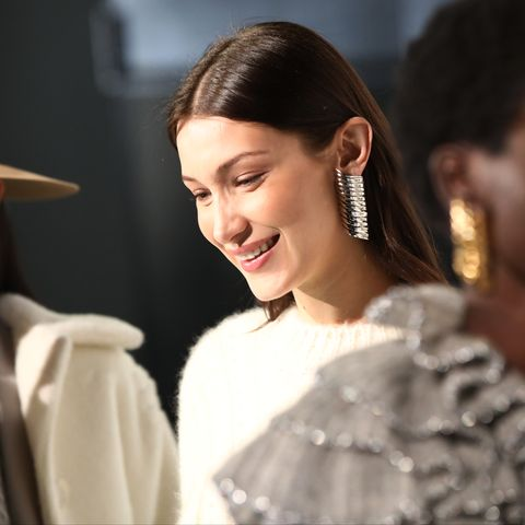 Bella Hadid On Dior Makeup New York Fashion Week