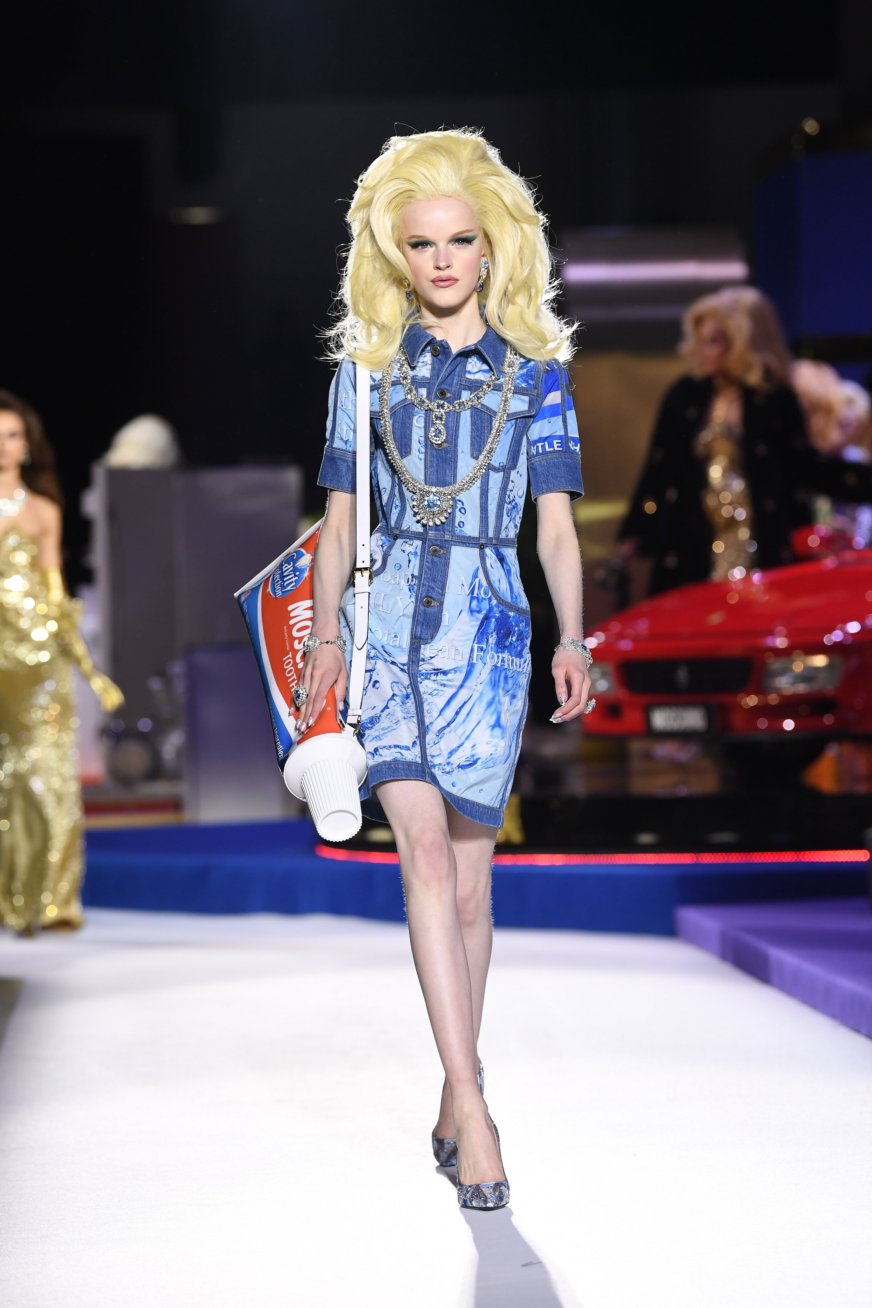 bb7db603653 Moschino's The Price Is Right-Inspired Runway Show Featured Toothpaste  Purses