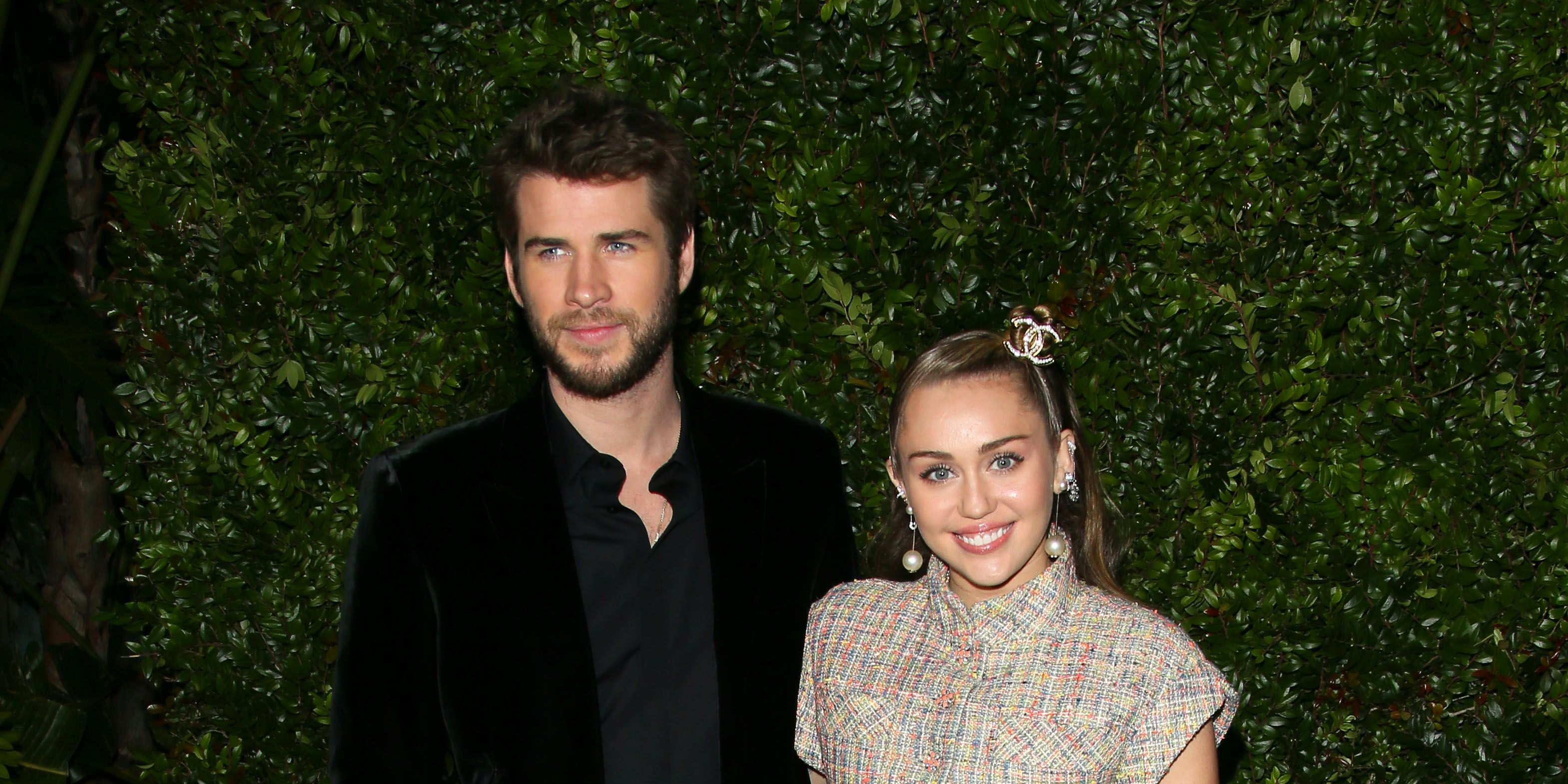 Miley Cyrus And Liam Hemsworth Chanel Pre-Oscars Party