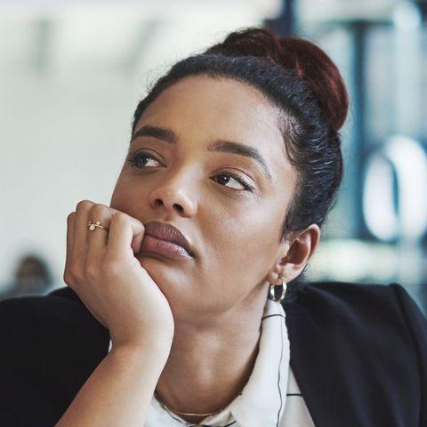 woman pondering life