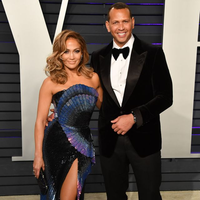 beverly hills, california   february 24 jennifer lopez and alex rodriguez attend the 2019 vanity fair oscar party hosted by radhika jones at wallis annenberg center for the performing arts on february 24, 2019 in beverly hills, california photo by george pimentelgetty images