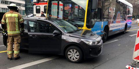 Bus driver loses control