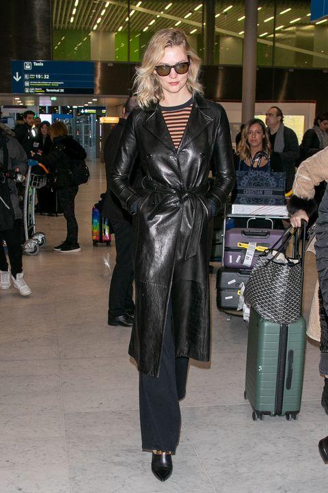 Clothing, Fashion, Outerwear, Leather, Leather jacket, Fashion model, Street fashion, Trench coat, Coat, Overcoat,