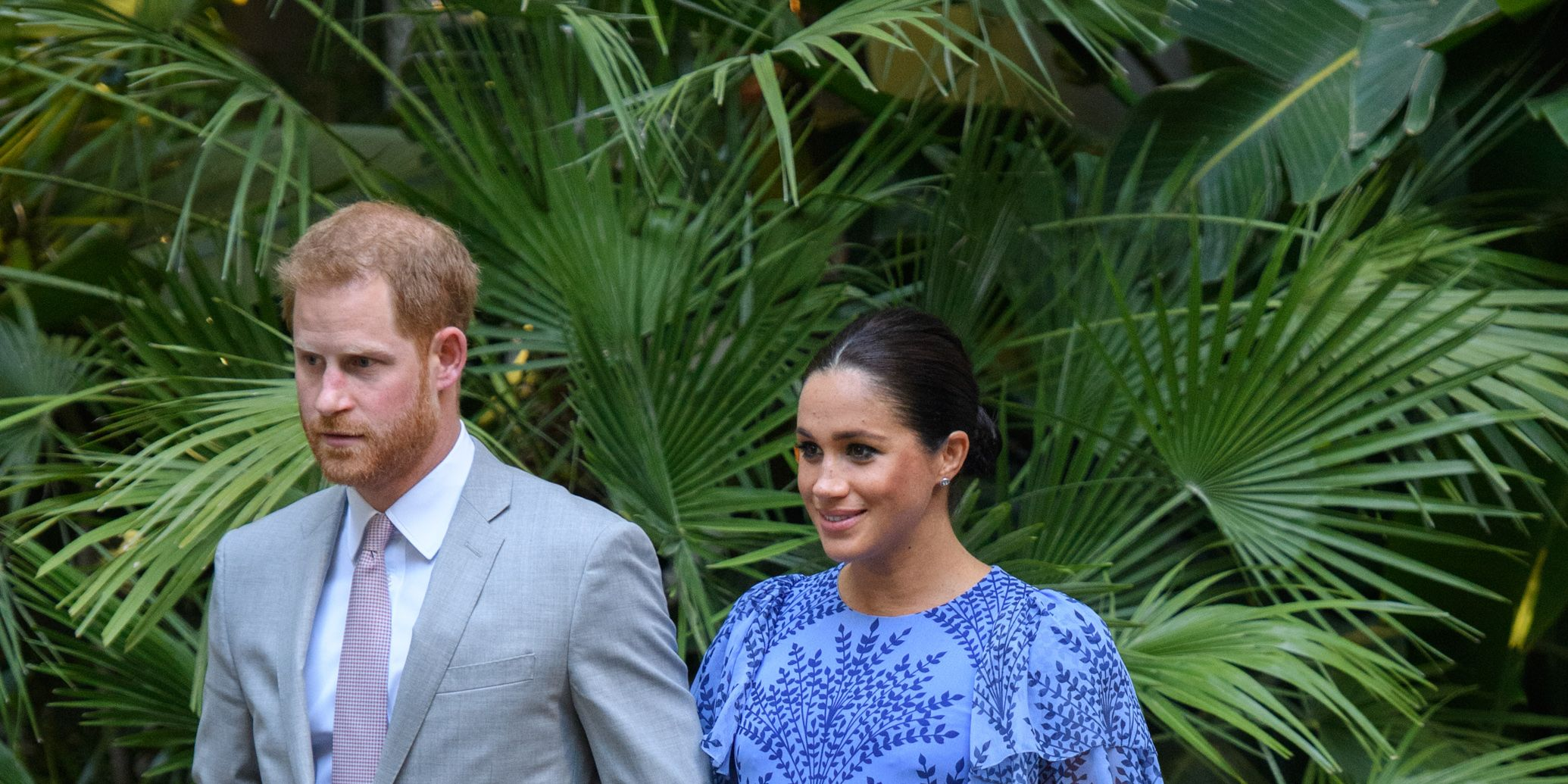 MEghan Markle corlina herrera blue dress morocco