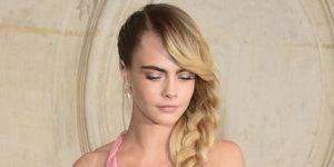 Cara Delevingne Long Blonde Plait Dior AW19