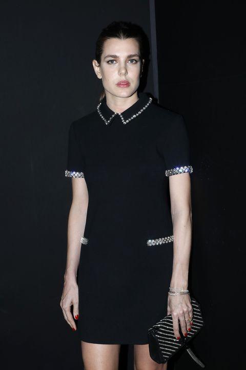 Clothing, Black, Fashion model, Shoulder, Fashion, Collar, Beauty, Neck, Dress, Sleeve,