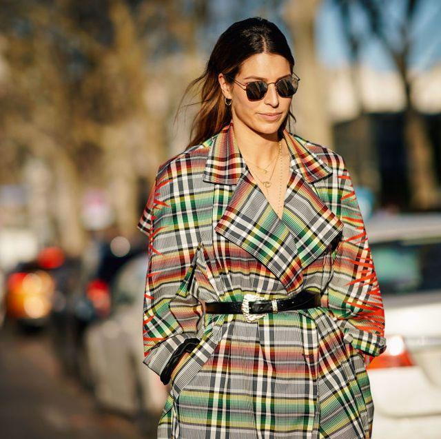 Plaid, Tartan, Street fashion, Clothing, Pattern, Fashion, Eyewear, Textile, Design, Sunglasses,
