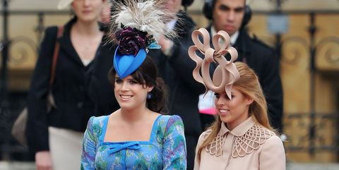 e58af6fec9505 Princess Beatrice and Princess Eugenie Cried Over Royal Wedding Hat  Backlash - Princess Beatrice and Eugenie Reaction to Royal Wedding Hat  Backlash