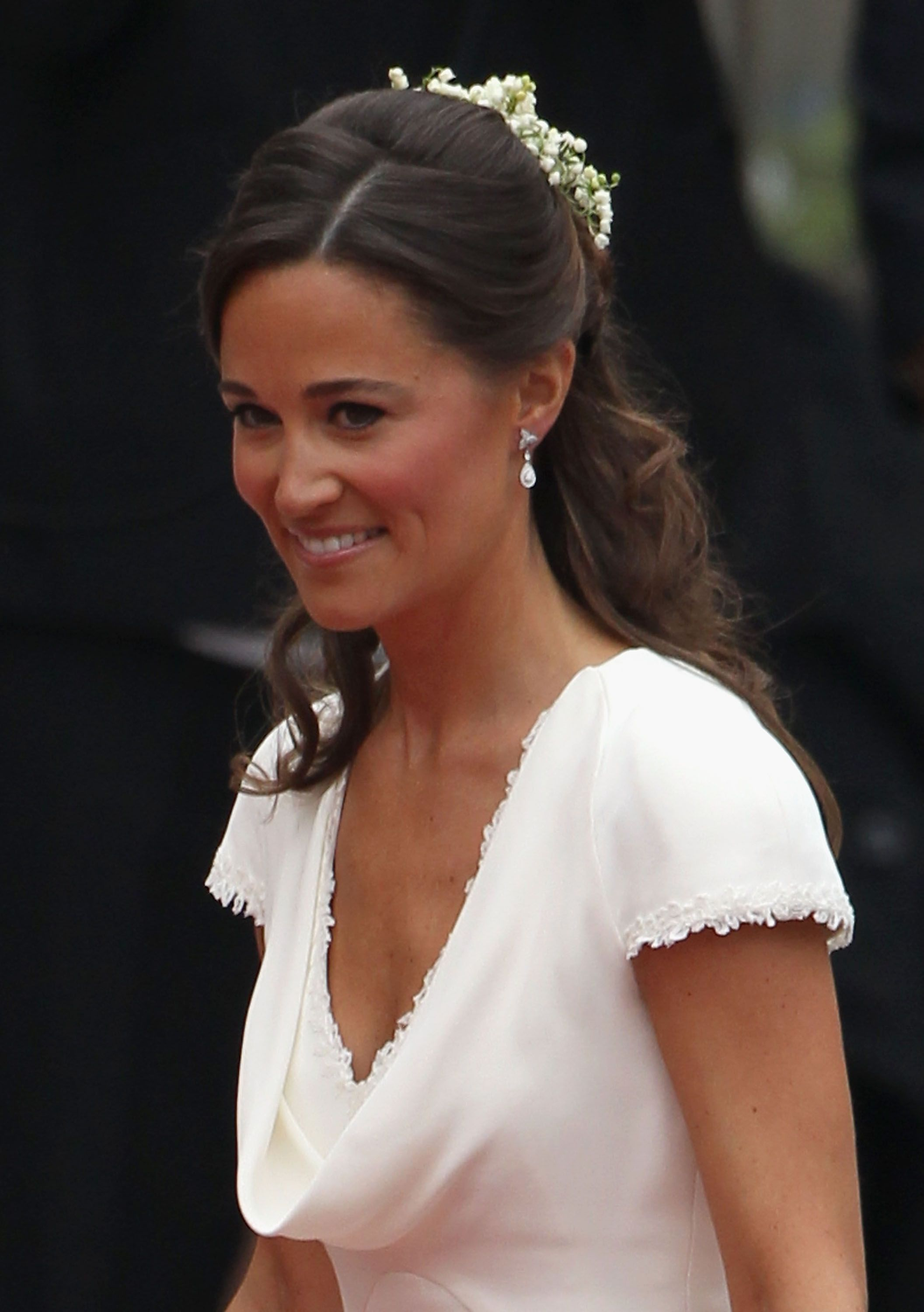 Pippa Middleton Wedding Earrings Pippas Wedding Day Jewelry