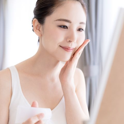 beauty concept of asian girl skin care