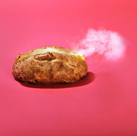 Steam the baked potato