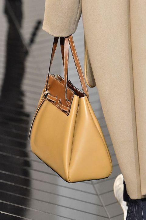 Bag, Handbag, Yellow, Beige, Fashion, Fashion accessory, Leather, Hobo bag, Shoulder, Satchel,
