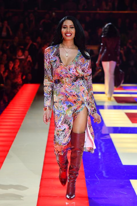 858d627e101 Zendaya Shuts Down Paris Fashion Week With Legendary All Black Cast for Her Tommy  Hilfiger Show