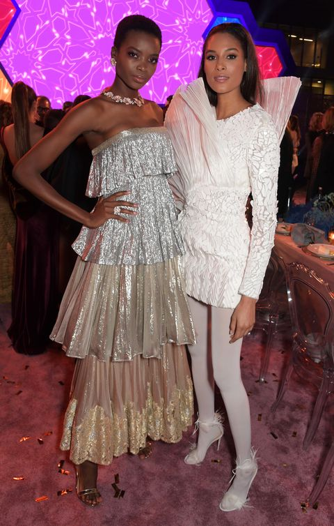 White, Fashion, Pink, Event, Dress, Fun, Fashion design, Haute couture, Leg, Formal wear,