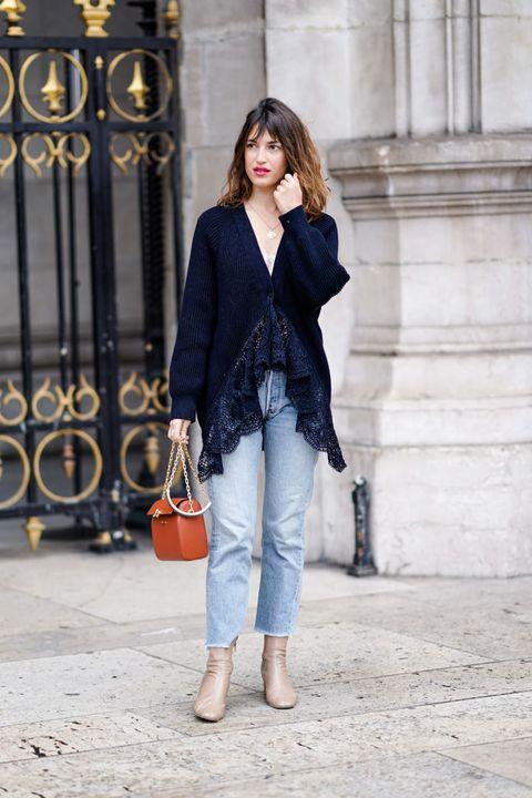 Clothing, Jeans, White, Street fashion, Blue, Blazer, Outerwear, Fashion, Suit, Cobalt blue,