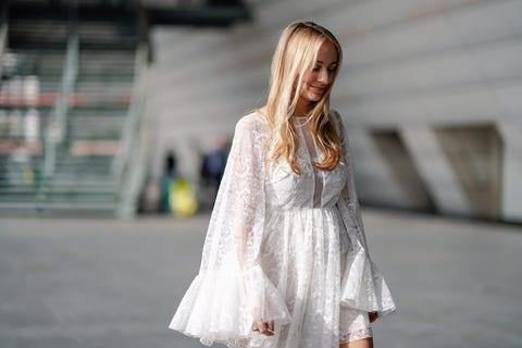 zara vestido blanco encaje novia