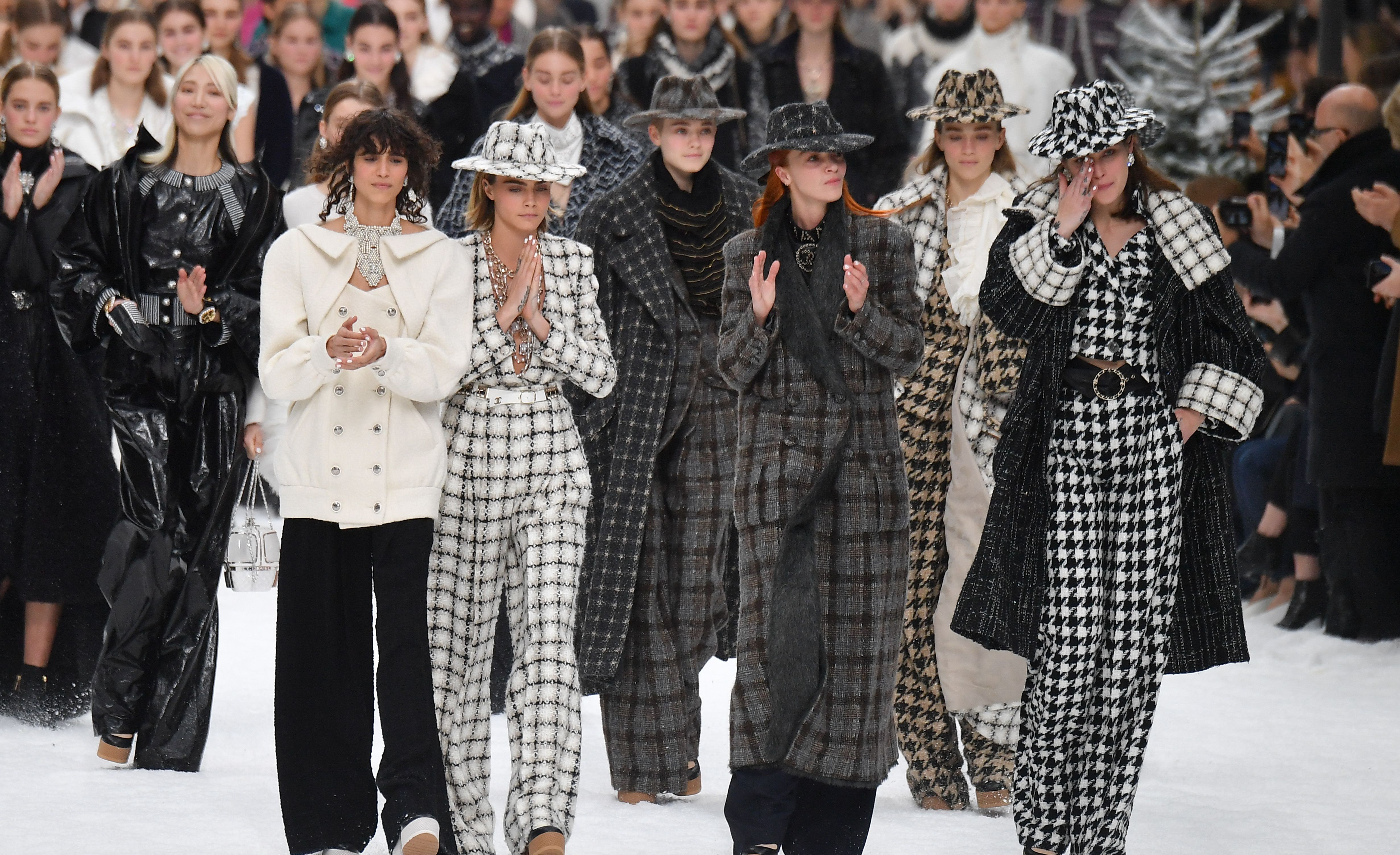 Chanel Pays Tribute to Karl Lagerfeld on a Snow-Covered Runway
