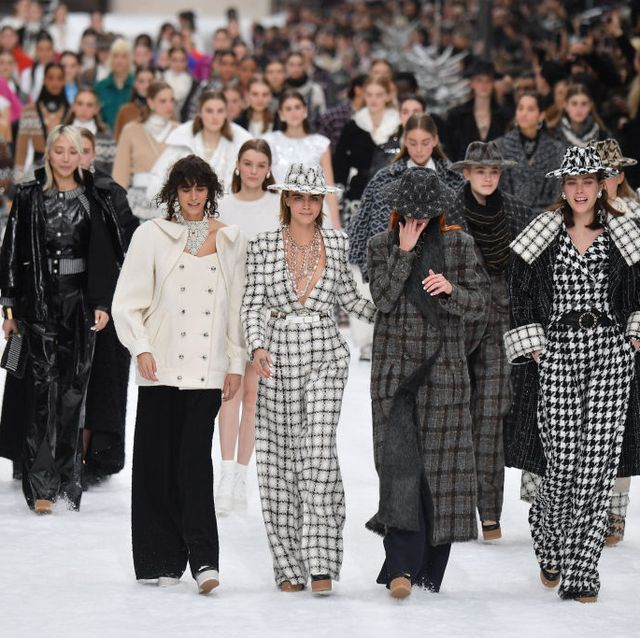 Fashion, People, Runway, Fashion show, Event, Fashion design, Winter, Human, Crowd, Haute couture,