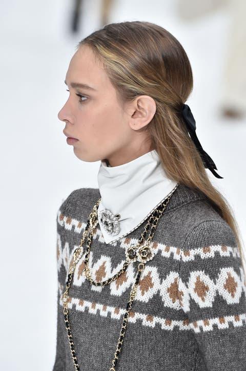 Hair, Fashion, Hairstyle, Neck, Outerwear, Blond, Haute couture, Street fashion, Runway, Ear,