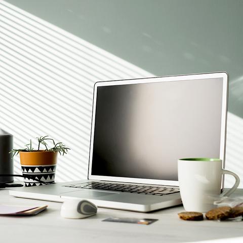 Desk, Product, Cup, Desktop computer, Furniture, Personal computer, Cup, Interior design, Office, Drinkware,