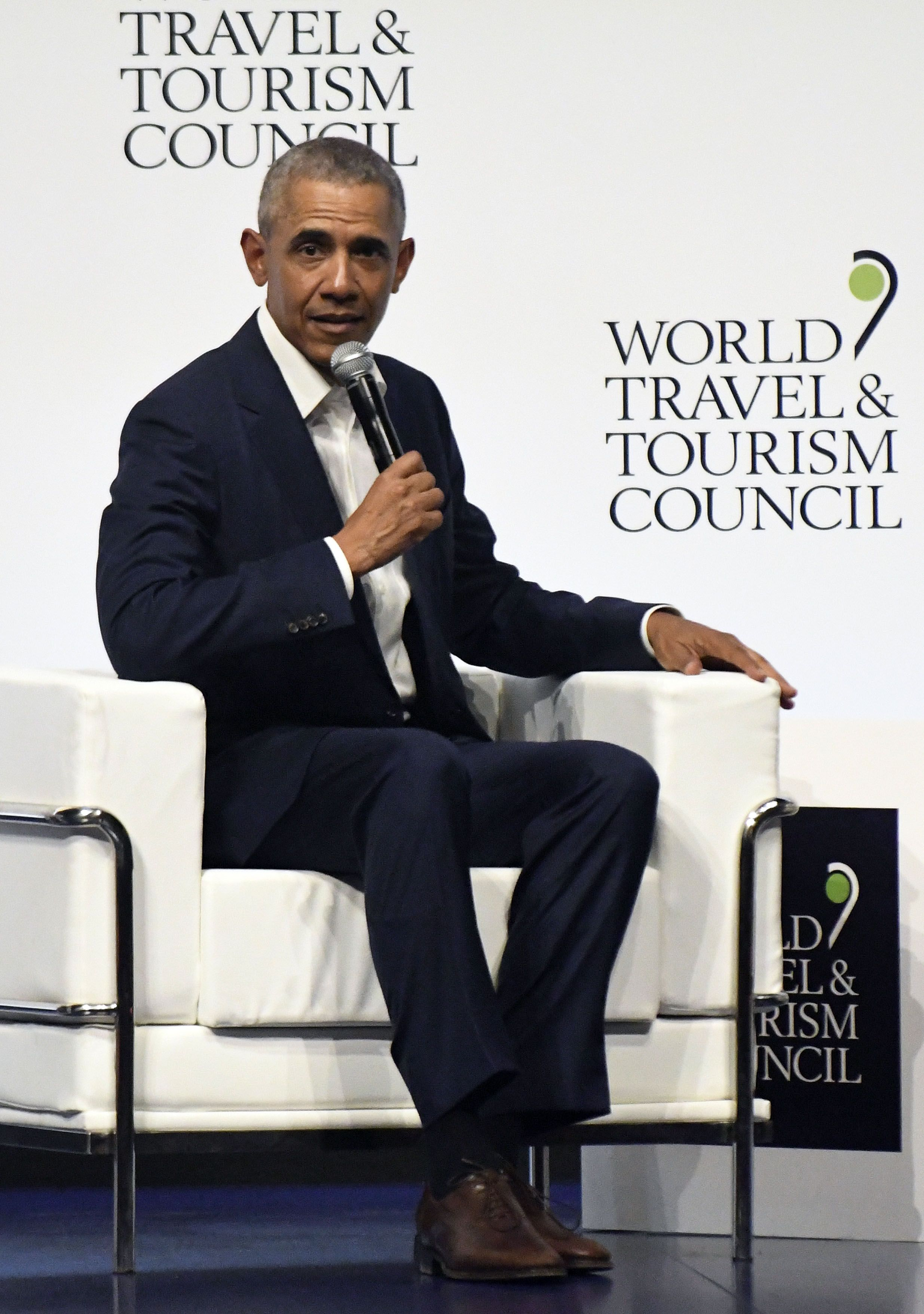 Barack Obama Made a Very Stylish Appearance at the World Travel & Tourism Council Forum