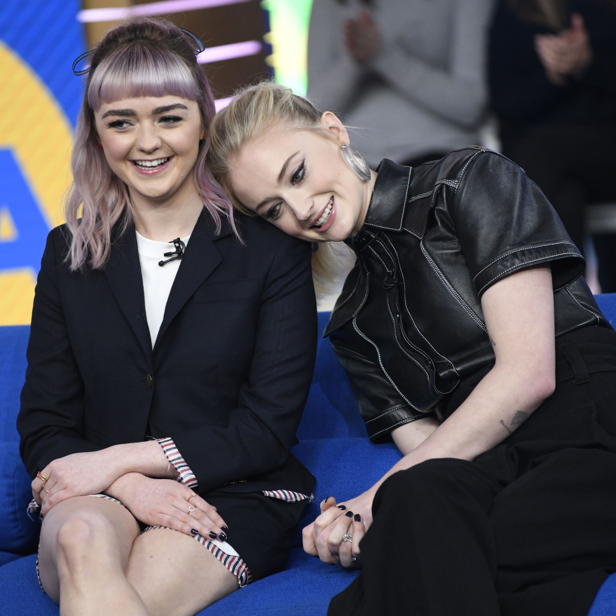 April 2, 2019 As they do their last big promotional push (this is an appearance at Good Morning America ) they genuinely seem to delight in each other's company the more they spend time together. It's no coincidence Maisie is one of Sophie's maids of honor .