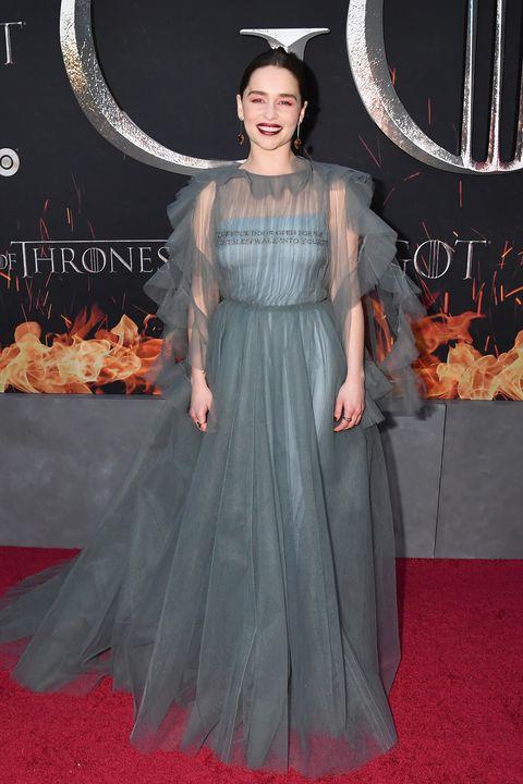 57b6b6caab6 Emilia Clarke s Valentino Game Of Thrones Premiere Dress Bore A ...