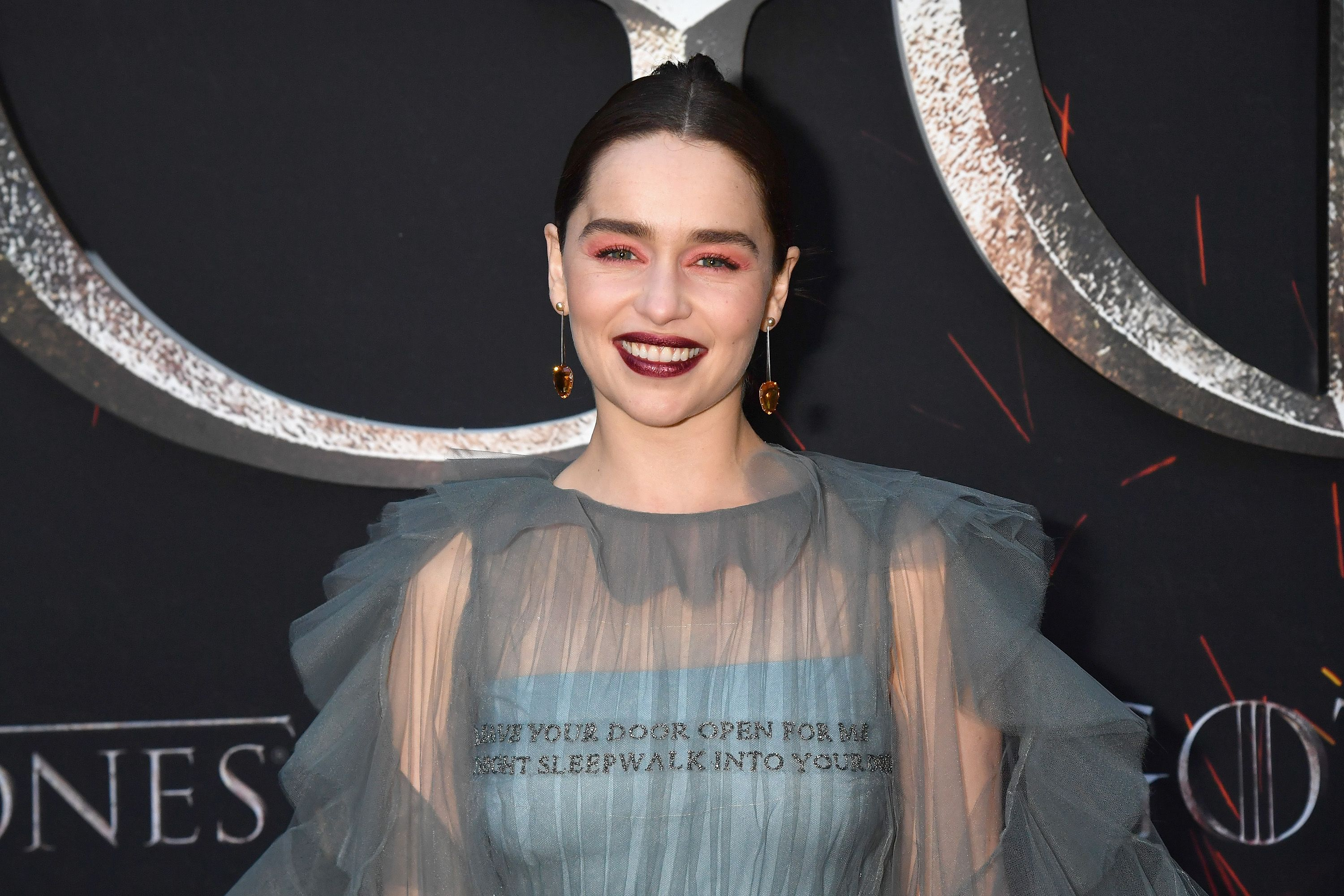 Did Emilia Clarke Drop a Hint About 'Game of Thrones' With Her Premiere Look?