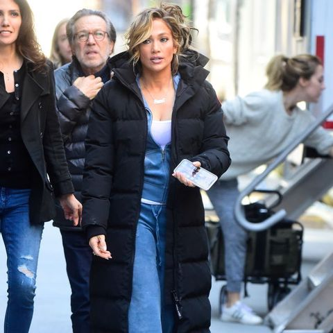 Jennifer Lopez in a Juicy Couture tracksuit