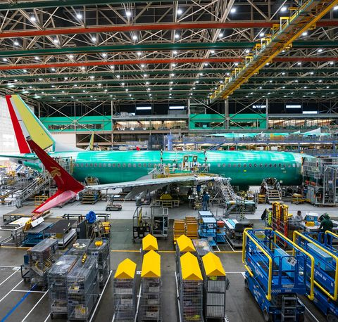 Boeing Manufacturing Facility In Renton