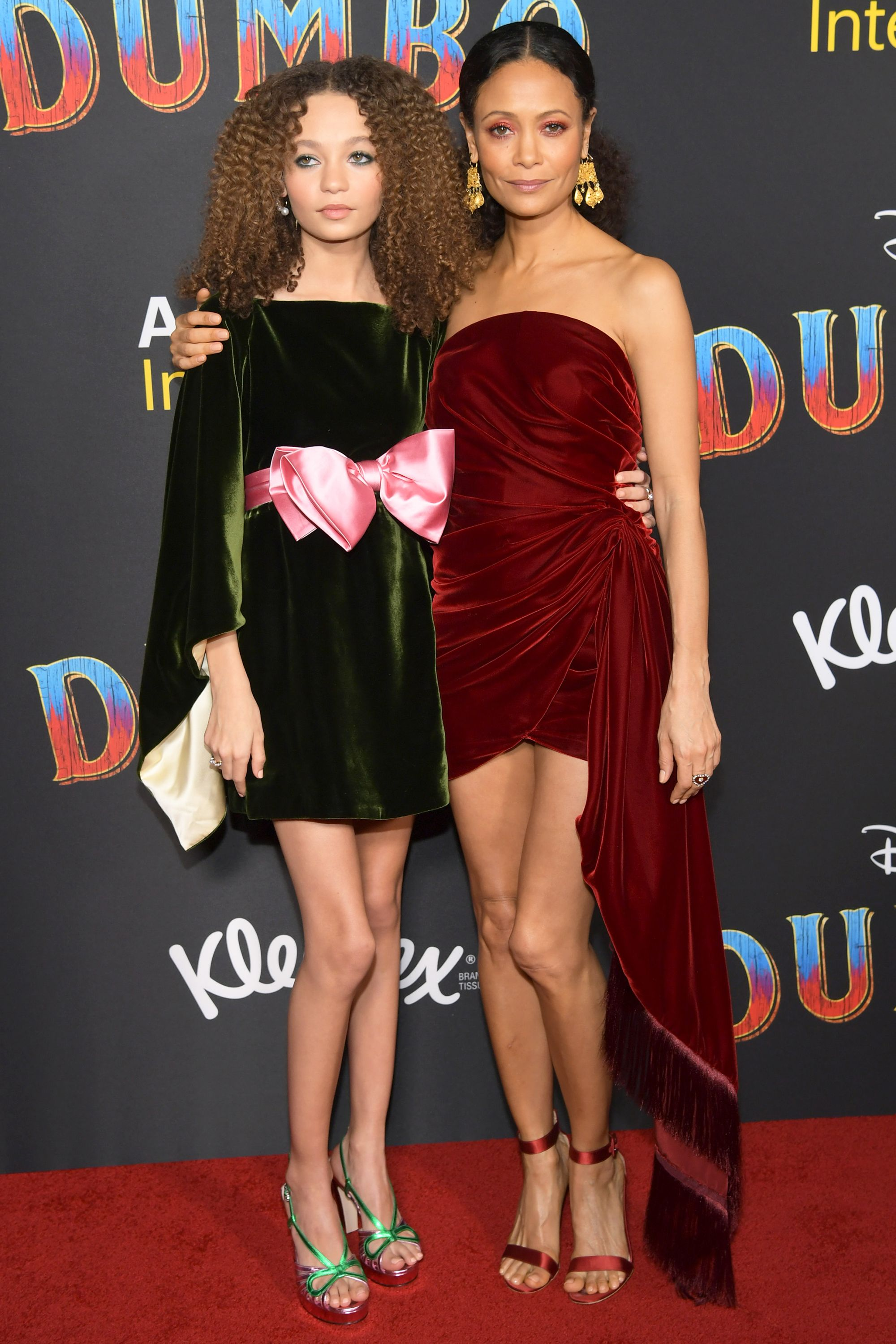 Who: Nico Parker and Thandie Newton When: March 11, 2019 Wearing: Parker in Gucci, Newton in Oscar de la Renta Why: Mother-daughter dressing does not get better than this. Thandie Newton and her daughter Nico attended the premiere of Dumbo in Los Angeles, California, doubling down on velvet and metallic sandals and we would like to be adopted into this family.