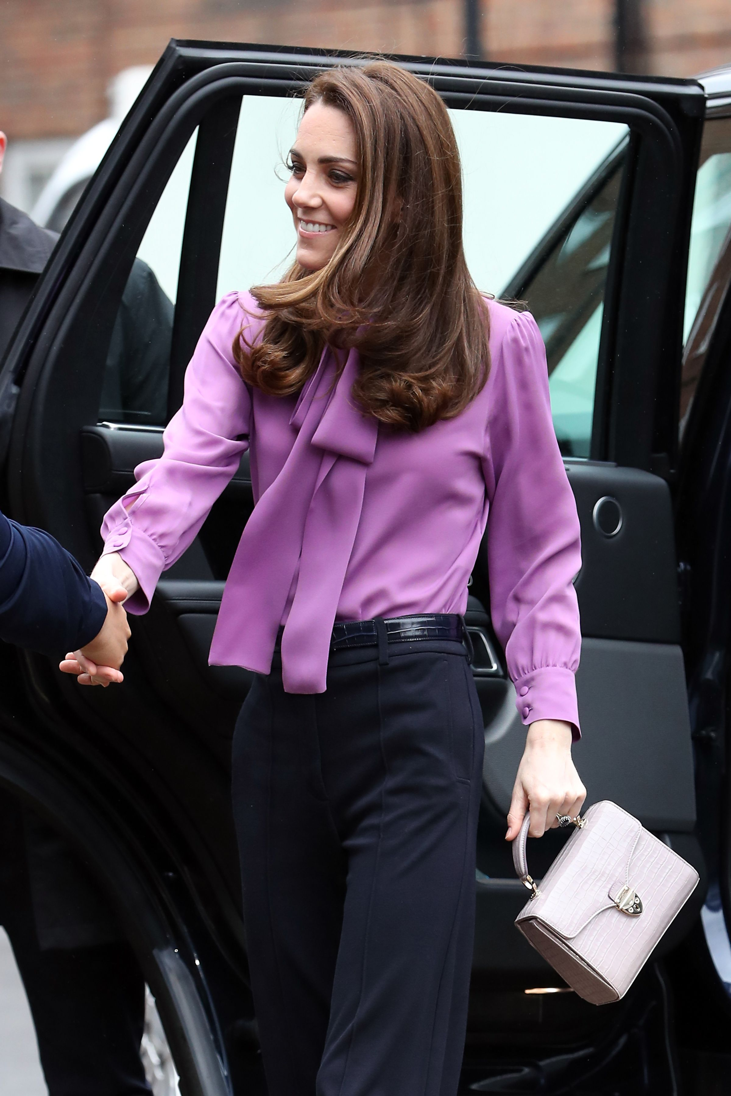 6fb8d4eb7b676 Kate Middleton s Gucci Bow Blouse and High-Waisted Trousers Will Inspire  Your Workwear