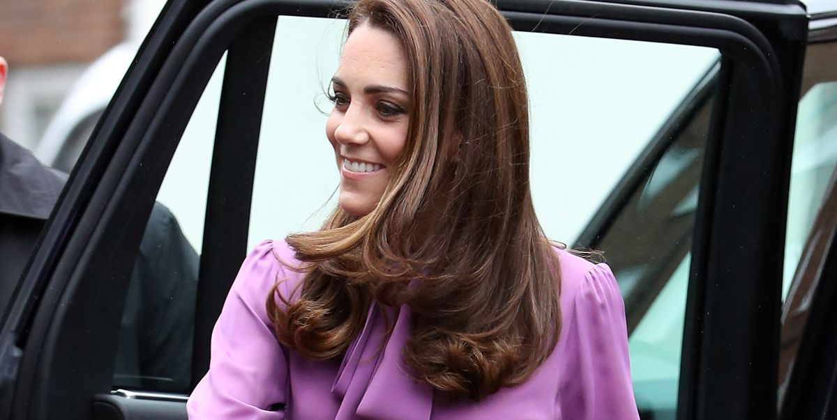 ee4cf631d7cec Kate Middleton s Gucci Bow Blouse and High-Waisted Trousers Are Workwear  Goals