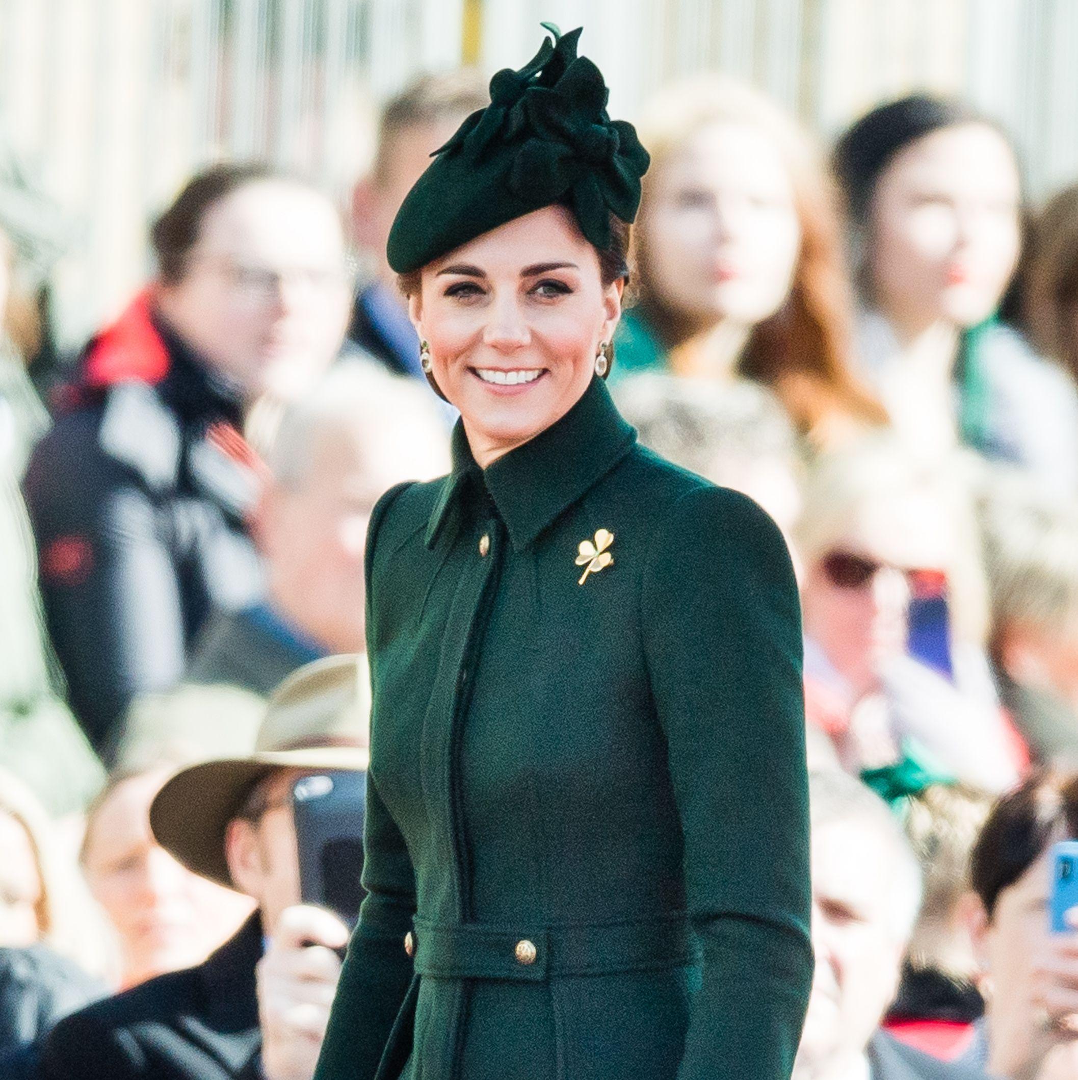 Kate Middleton Wears Custom Alexander McQueen for St. Patrick's Day