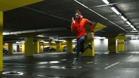 Yellow, Footwear, Recreation, Sports training, Street stunts, Physical fitness,