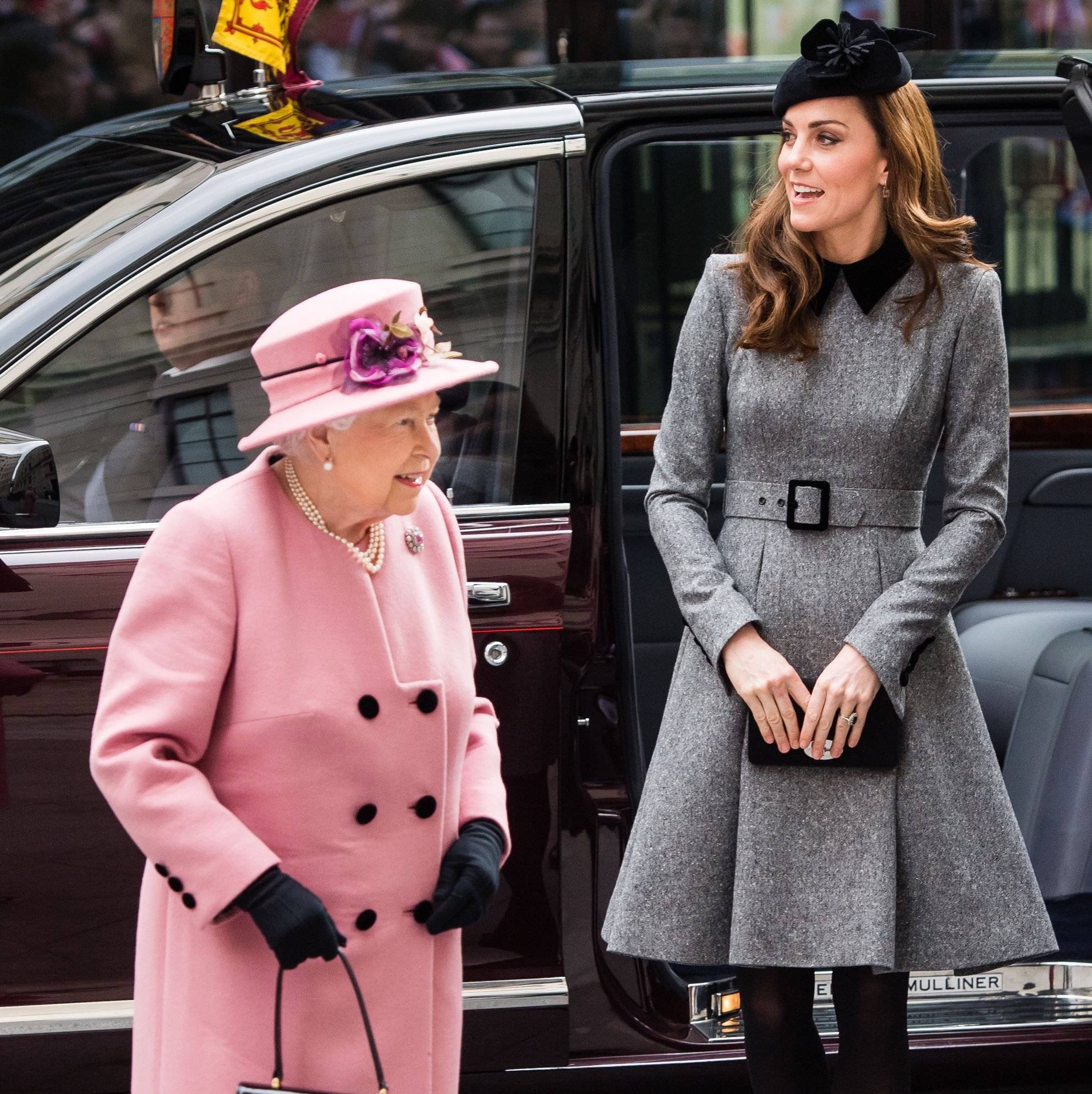 Kate Middleton's First Solo Royal Engagement with the Queen, Compared to their 2012 Appearance