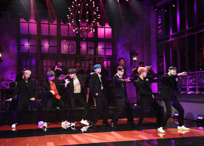 BTS Makes History on SNL - V, Jungkook, Jimin, Suga, Jin