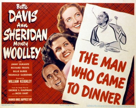 the man who came to dinner, lobbycard, jimmy durante, ann sheridan, bette davis, monty woolley, 1942 photo by lmpc via getty images