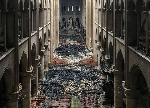X heartbreaking pictures of the Notre Dame in the aftermath of the fire