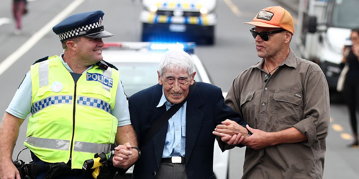 This 95-Year-Old Man Caught Four Buses to March Against Racism
