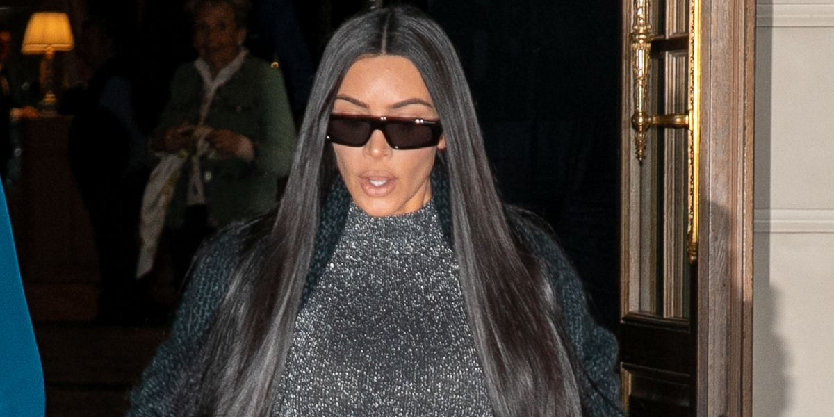 1f85b08d Kim Kardashian just wore another see-through bodysuit, and it's the  sparkliest one yet