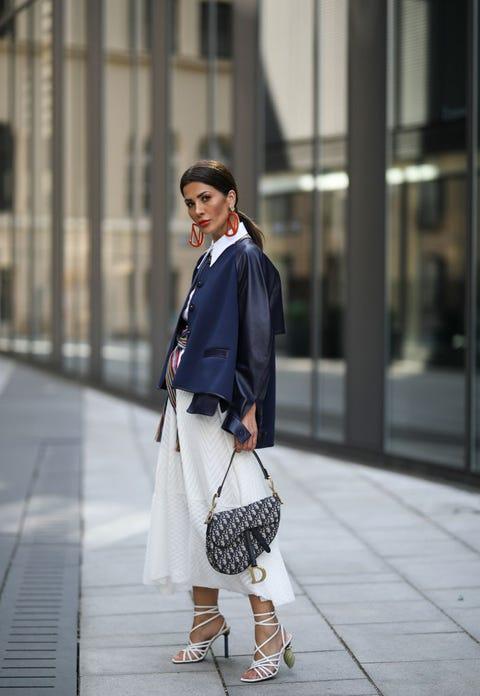 Street fashion, White, Clothing, Photograph, Fashion, Snapshot, Blazer, Footwear, Shoe, Outerwear,